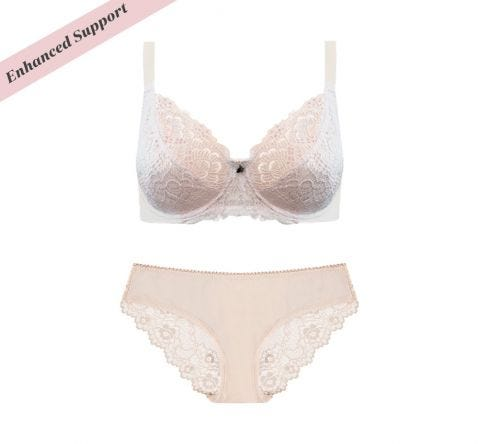 Enhanced Support Lace Bikini Set Almond Rose