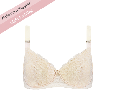 Enhanced Support Contrast Bra Vanilla Latte