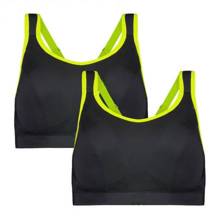 Compression Sports Bra - Enhanced Support - Raven Pack Product Image Front