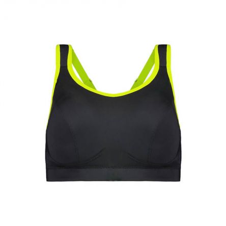 Compression Sports Bra - Premium Support - Raven Product Image Front