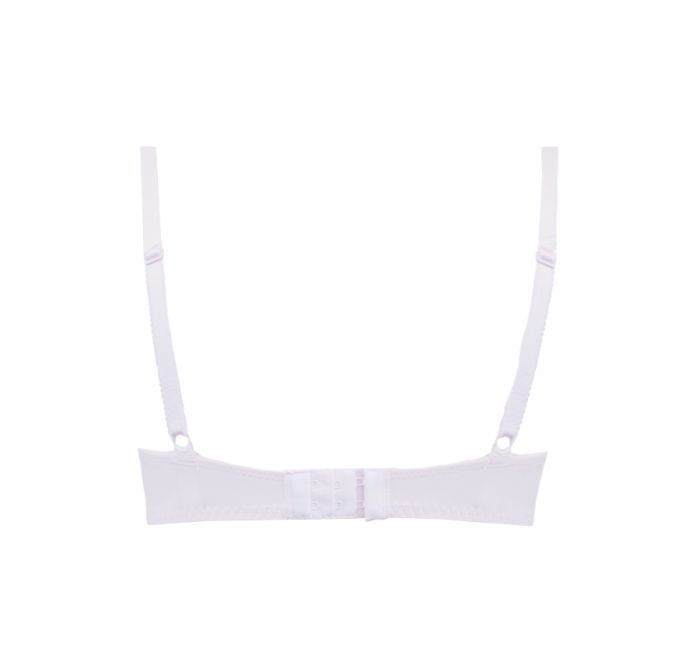 Underwire Contrast Lace Bra - Lite Support - Pink Soda Product Image Back