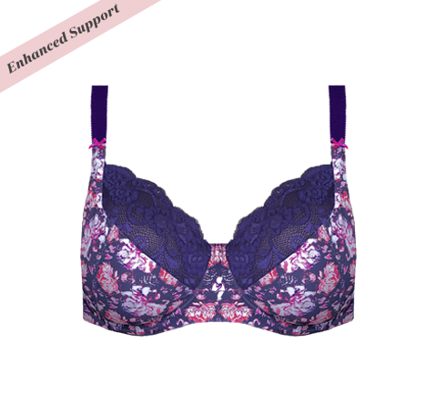 Enhanced Support Bouquet Floral Bra