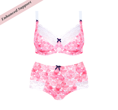 Enhanced Support Pink Flower Set